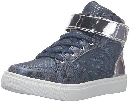 Steve Madden Girls' Amaleee Sneaker, Navy, 5 M US Big Kid (Girls Hi Top Sneakers compare prices)