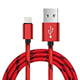 Aobiny cell phone cables 2A Braided Aluminum USB-C USB 3.1 Type C Data&Sync faster Charger Cable (Red)