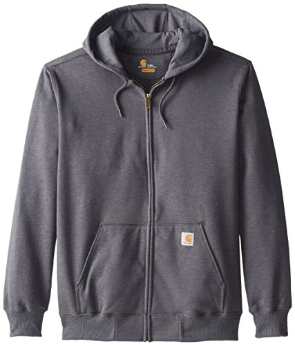 Tall Rain Defender Paxton Heavyweight Hooded Zip Front Sweatshirt,Carbon Heather,Large Tall ()