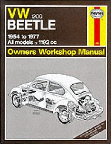 Volkswagen Beetle 1200 1954 77 Owner S Workshop Manual Service Repair Manuals J H Haynes 9780856965241 Amazon Com Books
