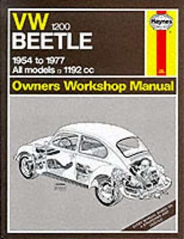 volkswagen beetle 1200 1954 77 owner s workshop manual service rh amazon com