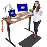 "Tranzendesk Air 55"" Pneumatic Standing Desk – Air Lift Assisted Sit/Stand Desk – Large Surface (55.5"" x 26"") – (Cherry Top & Black Legs) – Perfect Stand Up Desk for Home Office or Corporate Office!"