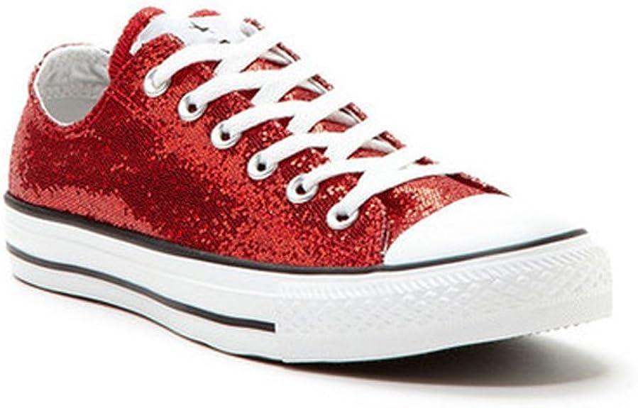 Converse Chuck Taylor All Star Women's Red Glitter Ox