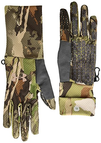 Under Armour Women's Hunt Early Season Liner, Ua Forest Camo (940)/Metallic Beige, Small