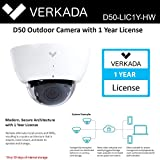 Verkada D50 Security Systems Outdoor Camera with 1 Year License, eliminates NVRs D50-LIC1Y-HW
