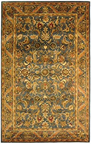 Safavieh Antiquities Collection AT52C Handmade Traditional Oriental Blue and Gold Wool Area Rug 6 x 9
