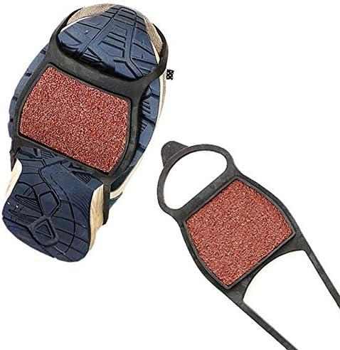 Einfach Slip On 1Pair grober Sand Winter-Anti-Rutsch-EIS-Schneeschuh Grip Traction Ice Klampen Steigeisen Anti-Rutsch-Schuhgreifer Greifer for Schuhe (Shoe Size : Black)