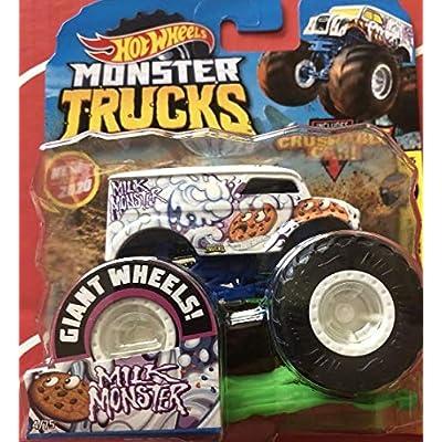 Hot Wheels Monster Trucks Milk Monster 1:64 Includes Crushable car: Toys & Games