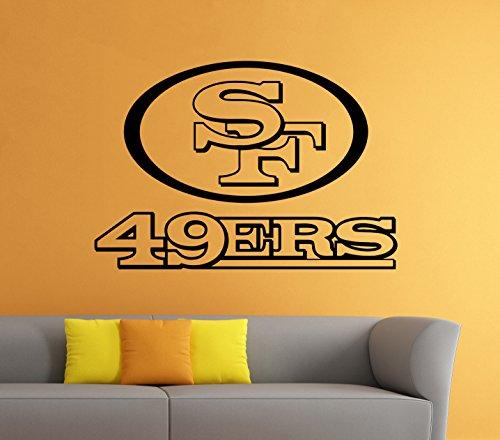 Logo Sports Poster (San Francisco 49ers Vinyl Decal Wall Sticker NFL Emblem Football Team Logo Sport Poster Home Interior Removable Decor)