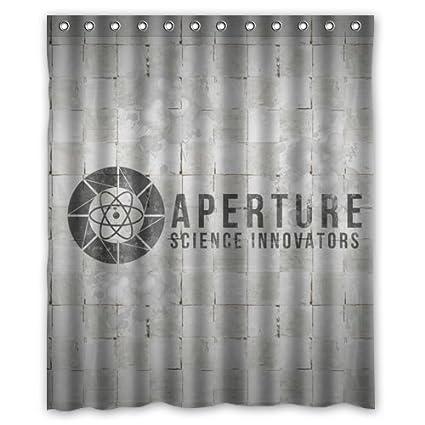 Aperture Science Laboratories Shower Curtain 60 Amazoncouk Kitchen Home