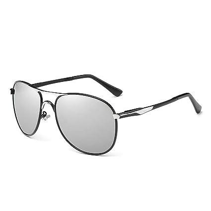 NUOLAN - Gafas de sol polarizadas de aviador militar para hombre