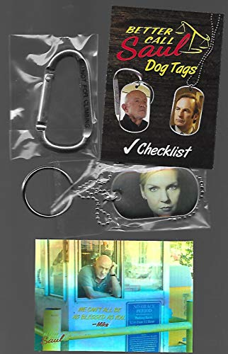 Better Call Saul Kim Wexler Dog Tag & Sticker # 8 - Rhea Seehorn - Stored in a Protective Plastic Display Case!!