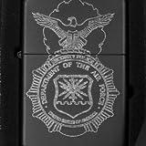 Lighter - Security Police Shield - Black L1