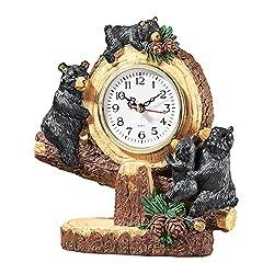 Woodland Bear Lodge Tabletop Clock