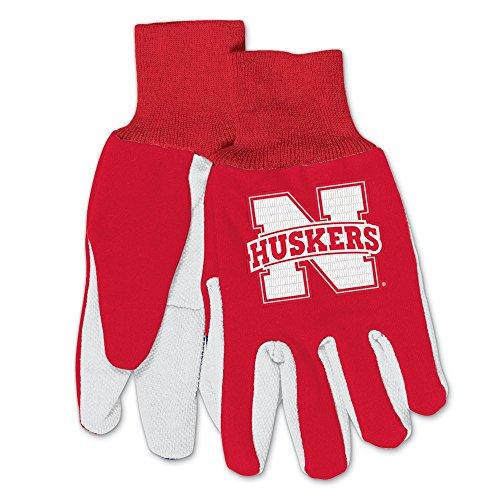 (WinCraft NCAA Nebraska Cornhuskers Camo Gloves, 2-Pack, Red/Black)