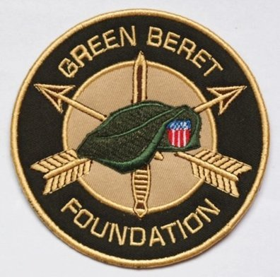 Green Beret Foundation Tactical Morale Military Velcro Patch