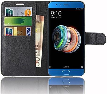 Xiaomi Mi Note 3 Funda, Anzhao Funda de Cuero Piel Carcasa con ...