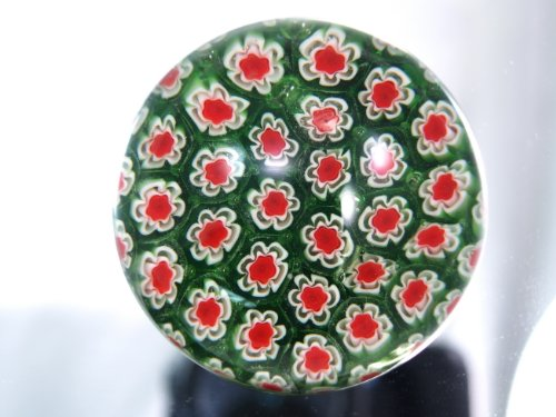 M Design Art Handcraft Rainbow Green Mix Millefiori Art Paperweight