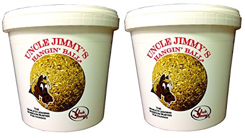 51PSOvHQK6L - Uncle Jimmys (2 Pack Hanging Balls - Apple Flavor Horse Treats