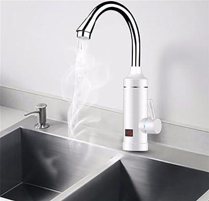 3000W Calentador De Agua Sin Tanque Pantalla De Temperatura Del LCD Golpee InstantáNeo Grifo Cocina Calentador