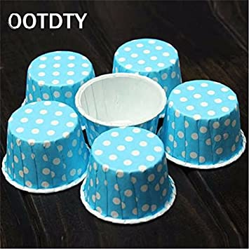 50 piezas de moldes para magdalenas para hornear cupcakes, magdalenas de papel, cajas para tartas, tazas de huevo, bandeja para tartas: Amazon.es: Hogar