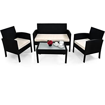 Deuba | Salon de Jardin Lounge - en polyrotin • Set Complet + ...