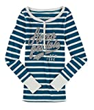 Aeropostale Womens New York Striped Henley Shirt