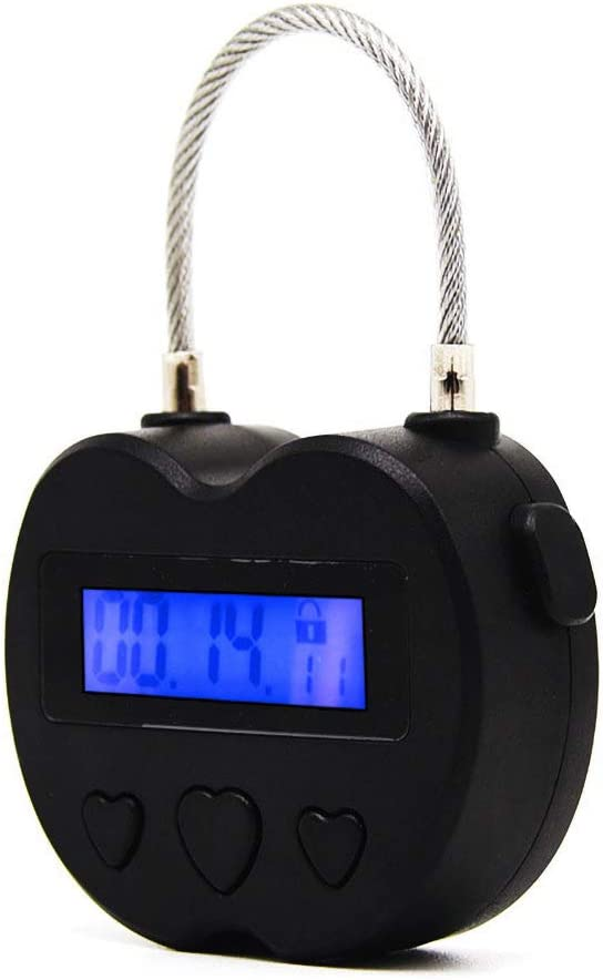 Security Padlock Electronic Timer Lock Behavioral Habit Aid Multi-Purpose Game Lock,Lock Up Addictive Objects Such As Cigarettes, Drugs, Cell Phones or Snacks. Suitable for Kitchens, Gyms, Schools