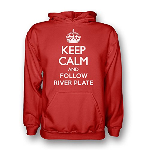 Gildan Keep Calm and Follow River Plate Hoody (Red): Amazon.es: Deportes y aire libre