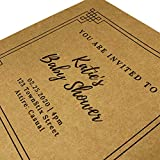 50 Sheets, Brown Kraft Cardstock, 200 GSM