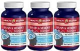 Ginkgo biloba organic liquid - BRAIN AND MEMORY BOOSTER - enhance performance (3 bottles)