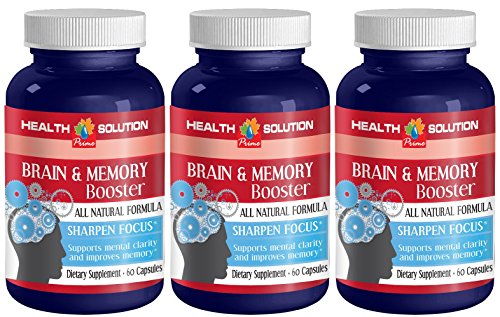 Ginkgo biloba organic liquid - BRAIN AND MEMORY BOOSTER - enhance performance (3 bottles) by Health Solution Prime