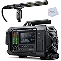 Blackmagic Design URSA Camera with EF Mount, 4K Super 35 Sensor with Global Shutter, 12G-SDI Video Output, 10.1 TFT-LCD, Dual CFast Recorders, Scopes + Audio-Technica AT875R Short Shotgun Microphone