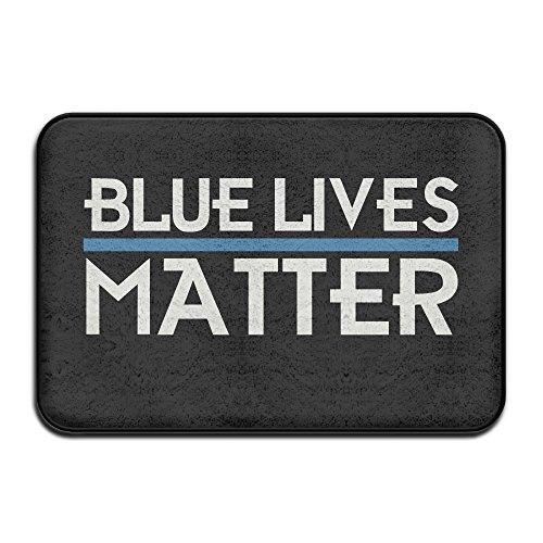 Police Blue Lives Matter Thin Blue Line Doormat And Dog Mat ,40cm60cm Non-slip Doormats,Suitable For Indoor Outdoor Bathroom Kitchen Doormat And Pets