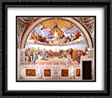 Disputation of the Holy Sacrament (La Disputa) [detail: 1a] 2x Matted 32x28 Large Black Ornate Framed Art Print by Raphael