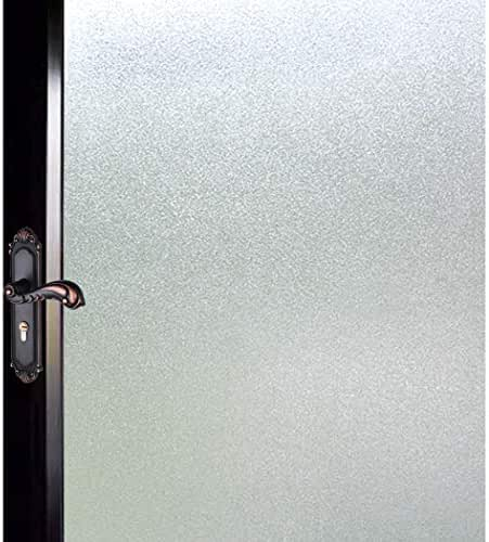 DUOFIRE Privacy Window Film Natural Frosted Glass Film Static Cling Glass Film No Glue Anti-UV Window Sticker Non Adhesive for Privacy Office Meeting Room Bathroom Living Room 35.4in. x 118in. S001