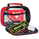 First Aid Kit & Emergency Bag (154-Pieces) with Bonus Survival Ebook & Small Pouch, Best for Home Emergencies, Car, Travel, Camping, Hiking, Sports and Outdoors