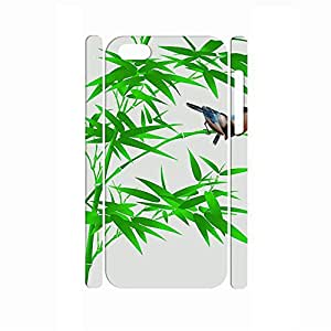 Awesome Handmade Traditional Chinese Painting Style Bamboo Hard Phone Accessories for Iphone 5C Case