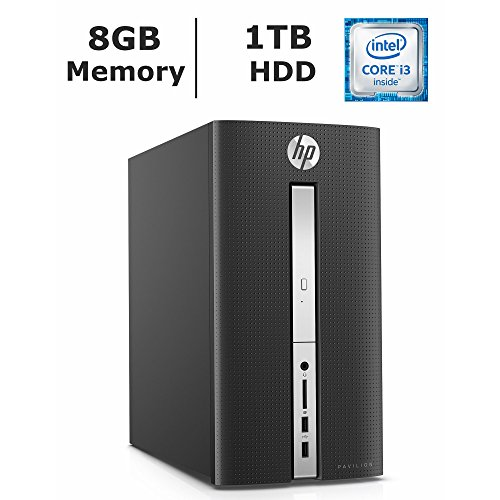 HP Pavilion 510 Flagship Premium High Performance Desktop (2017 Newest), Intel Core i3-6100T processor 3.2 GHz, 8GB DDR4 RAM, 1TB 7200RMP HDD, SuperMulti DVD burner, WiFi, HDMI, Windows 10 Home (Ram Pavilion Memory)