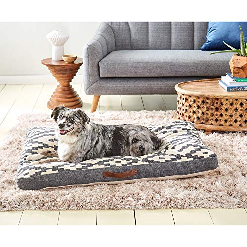 Home Dynamix Nicole Miller Cheyenne Bohemian Pet Bed Gusset, Ikat Charcoal/Ivory 27