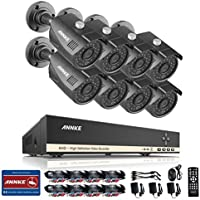 ANNKE 8CH AHD-1080N Security Camera System Video DVR Recorder and (8) 960P 1.3MP Indoor/Outdoor Surveillance Cameras with 100 Feet IR Night Vision, IP66 Weatherproof Metal Housing, NO HDD