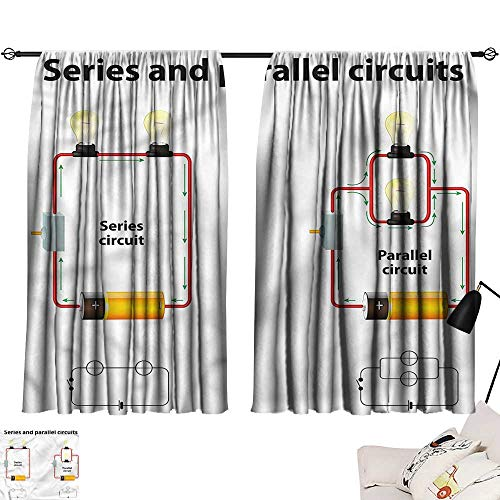 Tankcsard Bedroom Curtains Educational,Parallel Circuts 84