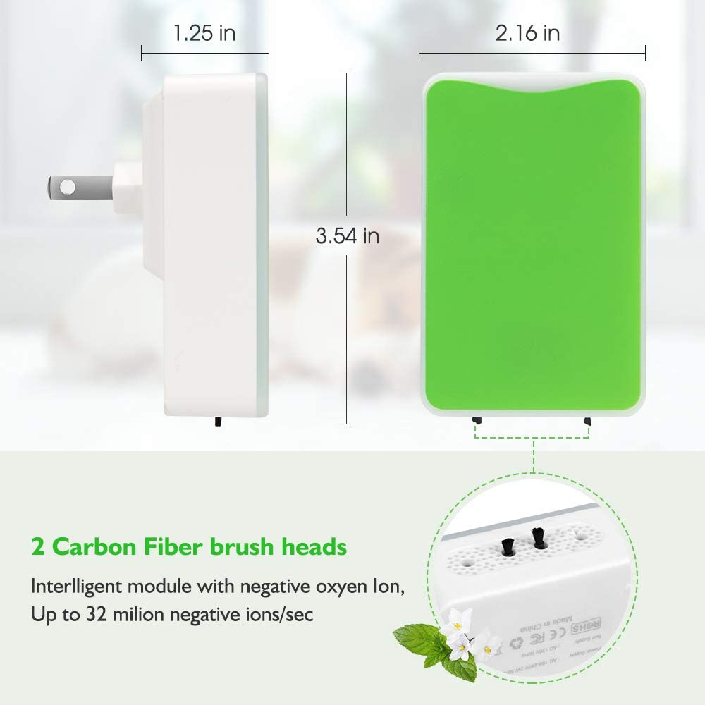 Air Purifier,Air Purifier for Home and Smoke and Office Pets Odor, Direct Plug-in Portable Ionic Air Purifier Travel-Size Smoke Purifier: Kitchen & Dining