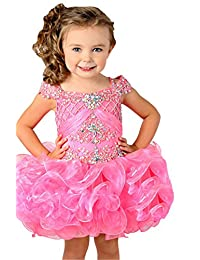 Junguan Little Girls' Ruffled Birthday Party Pageant Cupcake Dress
