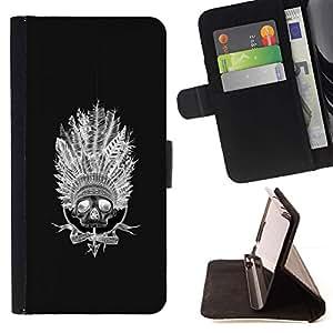 Momo Phone Case / Flip Funda de Cuero Case Cover - Indio del nativo americano Sombrero Negro - MOTOROLA MOTO X PLAY XT1562