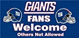 New York Giants Wood Sign - Fans Welcome 12''x6''