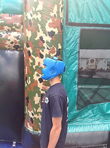 Replacement Blue Boxing and Jousting Helmet and Headgear with Reinforced Seams for Interactive Inflatable Fighting Arena or Ring Games, Universal Size by TentandTable (Image #4)