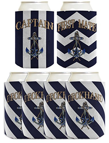Sailing Captain Deckhand Boating Coolers