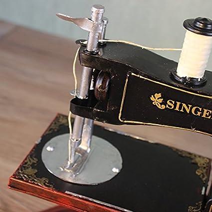 GONGYIPIN Tienda de Muebles de decoración para el hogar máquina de Coser Vintage Modelo Ropa Adornos