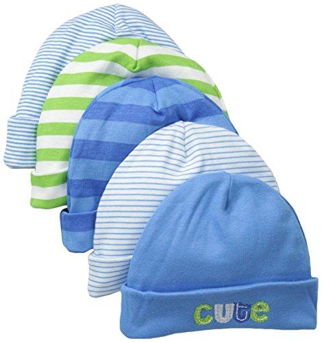 - Gerber Baby Boys' 5 Pack Caps, Stripes Multi, 0-6 Months